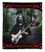 Jerry Road Rose 2 Fleece Blanket