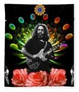 Jerry Spacepods Triple Jerry Ufo Roses Under Cosmic Sun Fleece Blanket