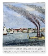 Jersey City, 1844 Fleece Blanket