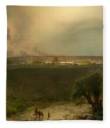 Jerusalem From The Mount Of Olives Fleece Blanket