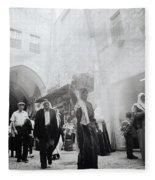 Old City Of Jerusalem Fleece Blanket