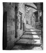 Jerusalem Street Fleece Blanket