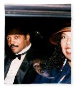 Jesse Jackson-roberta Flack 1989 Fleece Blanket