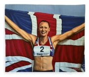 Jessica Ennis Fleece Blanket