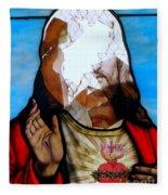 Jesus Abstract Fleece Blanket