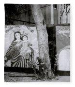 Jesus And The Gangster Fleece Blanket
