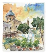 Jesus By Palermo Cathedral Fleece Blanket