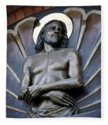 Jesus Cathedral Icon -  Spokane Washington Fleece Blanket