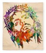Jesus Christ 3 Fleece Blanket