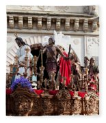 Jesus Christ And Roman Soldiers On Procession Fleece Blanket