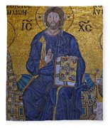 Jesus Christ Mosaic Fleece Blanket