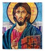 Jesus Christ The Pantocrator I Fleece Blanket