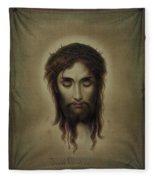 Jesus Christus Portrait By Martie Circa 1876 Fleece Blanket