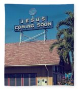 Jesus Coming Soon Church Maui Hawai Fleece Blanket