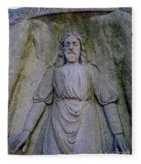 Jesus In Repose Fleece Blanket
