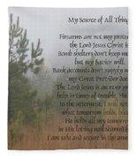 Jesus My Source Of All Things Fleece Blanket