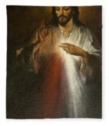 Jesus Of Divine Mercy Fleece Blanket