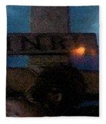 Jesus On The Cross Fresco  Fleece Blanket