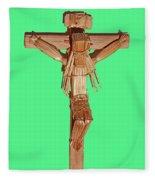 Jesus On The Cross In Mexico 1925 Fleece Blanket