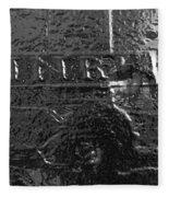 Jesus On The Cross Metal Sculpture Fleece Blanket