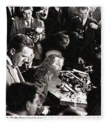 Jesus Press Conference 1966 Fleece Blanket