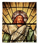 Jesus - The Light Of The Wold Fleece Blanket