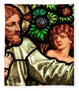Jesus With Children Fleece Blanket