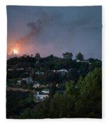 Jesusita Wildfire Burn In The Distance Fleece Blanket
