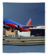 Jet Chicago Airplanes 12 Out Of Bounds Fleece Blanket