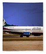 Jet Chicago Airplanes 15 Fleece Blanket
