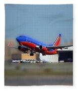Jet Chicago Airplanes 17 Fleece Blanket