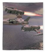 Jet Flying Low Fleece Blanket
