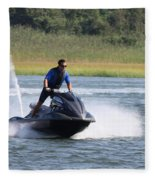 Jet Skier Fleece Blanket