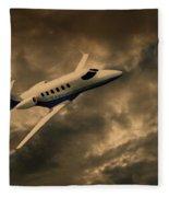 Jet Through The Clouds Fleece Blanket