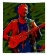 Jethro Tull-96-a21-fractal Fleece Blanket