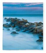 Jetty Sunset Fleece Blanket