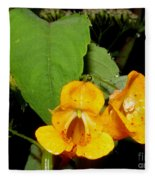 Jewel Weed Fleece Blanket