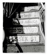 Jewish New York Fleece Blanket