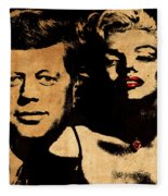 Jfk And Marilyn Fleece Blanket