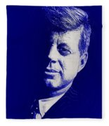 Jfk - Blue Fleece Blanket