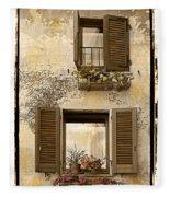 Orvieto Window Polaroid Fleece Blanket