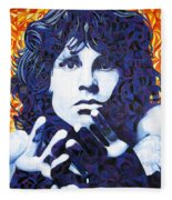 Jim Morrison Chuck Close Style Fleece Blanket