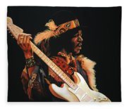 Jimi Hendrix 3 Fleece Blanket
