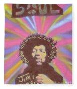 Jimi Hendrix Pastel Fleece Blanket