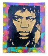 Jimi Hendrix Squared Fleece Blanket