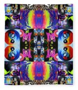 Jimi Kaleidoscope I Fleece Blanket