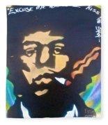 Jimi Smoking Fleece Blanket