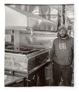 Jimmy At Mt Cube Sugar Farm Fleece Blanket