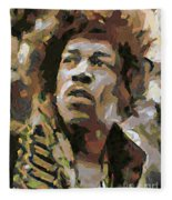 Jimmy Hendrix Fleece Blanket