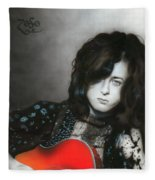Jimmy Page Fleece Blanket